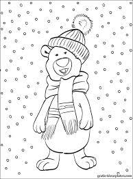 Winter Sneeuw Kleurplaat Gratis Kleurplaten