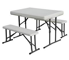 stansport heavy duty picnic table and bench set sportsmans folding table and chairs camping
