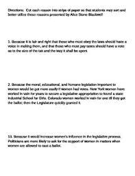 th amendment essay by b lacenski teachers pay teachers 19th amendment essay