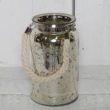 mercury glass vase with rope handle