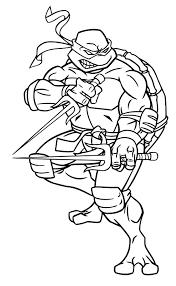 Kleurplaat Ninja Turtles 1040