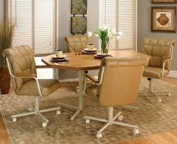 dining table with caster chairs kitchen dining cushion swivel and tilt rolling caster chair swivel kitchen dining table with caster chairs