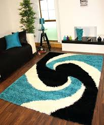 teal and black area rug black and aqua rug modern teal blue black thick easy clean teal and black area rug