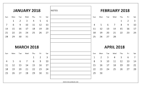 write in calendar 2018 january to april 2018 calendar 4 month 2018 calendar one page