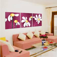 Painting Canvas For Living Room Living Room Piece Art Sets Paintings Canvas Flowers Design Ideas