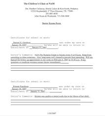 doctors notes for work template 25 free doctor note excuse templates template lab