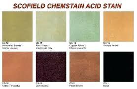 Davis Concrete Color Chart Concrete Color Stains Acid Stain Review Colors Davis