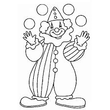 Small Picture Circus and Clown Coloring Pages