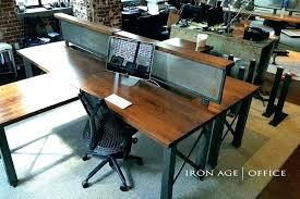 rustic office desk. Industrial Office Furniture West Elm Desk Rustic Trend L