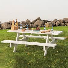 dura trel 96 in white rectangle picnic table