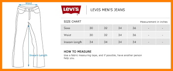 Mens Jeans Chart 5 Mens Jeans Size Chart Resume Pictures For Mens Jeans