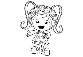 Small Picture Cute Little Milli in Team Umizoomi Coloring Page Color Luna
