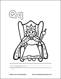 Small Picture Letter Q Coloring Book Free Printable Pages