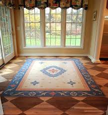 faux persian rug painted oriental and checkerboard dining room floor detail 2 silk rugs faux persian rug