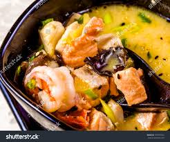 Asian Seafood Soup Spics Herbs Black ...