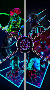 Avengers Neon Wallpapers - Wallpaper Cave