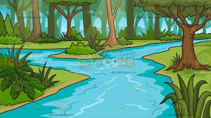 jungle background clipart. Interesting Clipart A River In Jungle Background Cartoon Clipart For R