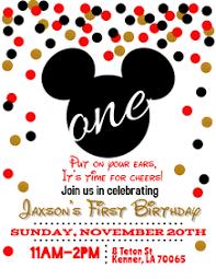200 Mickey Mouse Birthday Invite Customizable Design