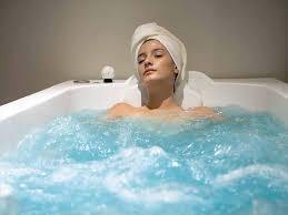 bathing in the bathtub
