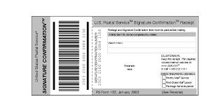 Confirm Of Receipt Shows Form 153 Signature Confirmation Receipt
