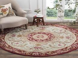 safavieh hand hooked easy care aubusson ivory burdy rug 6 round sisal rug