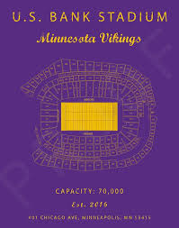 Us Bank Seating Chart Vikings Us Bank Stadium Minnesota Vikings Us Bank Seating Chart