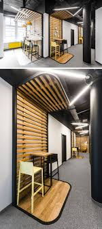 office define. In This Modern Office, There\u0027s Clearly Defined Seating Areas With Wood Slats And A Black Office Define