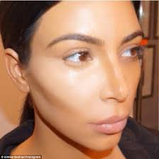 contouring the star showed off the placement of her dark and light concealers kim kardashian makeup tutorial