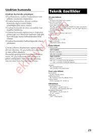 Sony CFD-RS60CP SERİSİ Müzik Seti - Kullanma Kılavuzu - Sayfa:23 -  ekilavuz.com