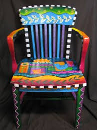Funky Decorative Painted Furniture  Google Search  Craft Painted Hand Painted Benches