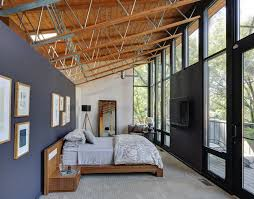cozy blue black bedroom bedroom. Contemporary Bedroom By MANI \u0026 Co - An Cozy Blue Wall With Black Opposite And