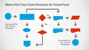 Metro Flat Flow Chart Example Slide For Powerpoint Slidemodel