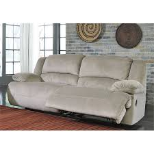 ashley furniture mitchiner reclining sofa with drop down table in