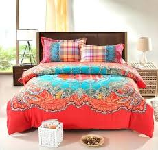 burnt orange king size bedding sets bohemian down comforter set thicken cotton brushed