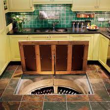 Wine Cellar In Kitchen Floor Trapdoor In The Kitchen Floor Spiral Wine Cellars The Kitchn