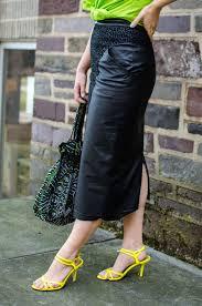 thrifted shirt vintage leather skirt old ann taylor sandals vintage necklace vintage bag
