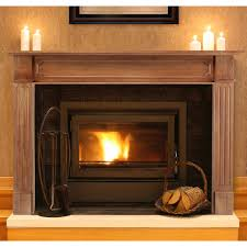 image of wood fireplace mantel clearances