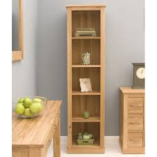 mobel solid oak narrow. Front Angle Of The Baumhaus Mobel Oak Narrow Bookcase (COR01D) Solid