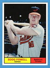 Size Of A Baseball Card Boog Powell 1961 Topps Style Rookie Baseball Card What If