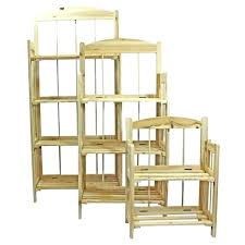 folding display shelves 2 3 wooden market bookcase shelving storage clearance party time collapsible portable wooden display shelves