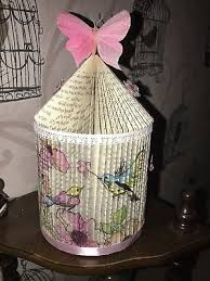 hand made folded book birdcage art mother s day gift birthday erflies