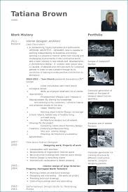 Interior Design Resume Portfolio New Resume Portfolio Examples