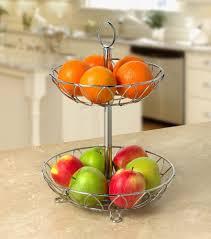 modern design hot sale metal wire fruit baskettier stainless