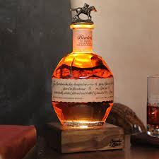 Blanton S Bottle Light Reclaimed Bourbon Whiskey Bottle Liquid Desk Lamp Bulleit