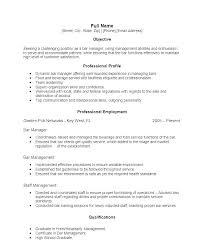 Bartender Resume Example Template Enchanting Resume For Bartenders Example Bartender Resume Bartenders Resume