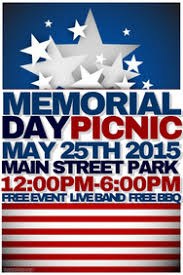 Picnic Flyers Customize 370 Memorial Day Poster Templates Postermywall