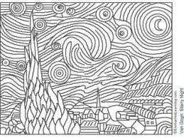 Small Picture Free Coloring Book Famous Artwork Coloring Pages At Remodelling