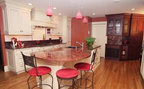 pink granite countertop kitchen design white kitchen cabinets