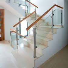 stainless steel railing glass panel indoor for stairs md pin 3