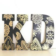 wooden letter designs kappa delta letters with black acrylic paint and gold pen would love to wooden letter designs